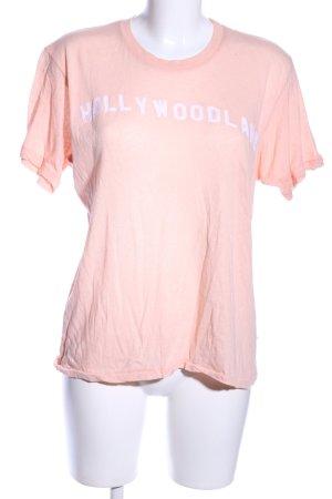 Wildfox T-Shirt creme-weiß Schriftzug gedruckt Casual-Look