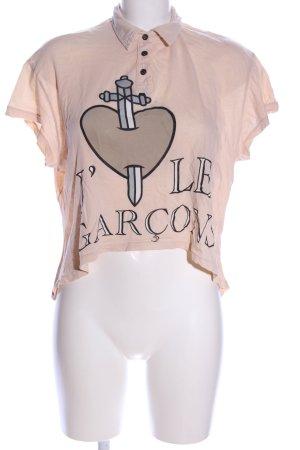 Wildfox T-Shirt nude-schwarz Motivdruck Casual-Look
