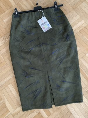 Made in Italy Faux Leather Skirt multicolored