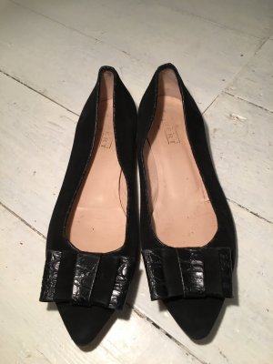 Claudia Obert Ballerinas with Toecap black leather