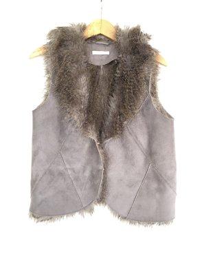 Christian Berg Fur vest grey brown