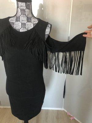 Bershka Robe en cuir noir