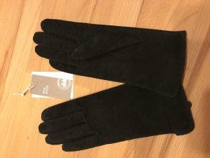 Wildleder Handschuhe schwarz H&M Premium Leder Retro