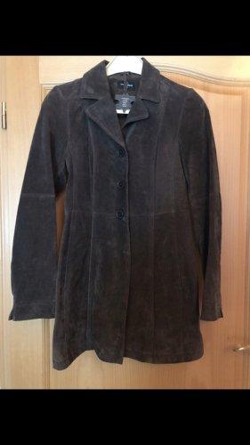 C&A Leather Jacket brown-black brown