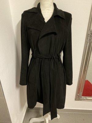 Zara Abrigo de cuero negro