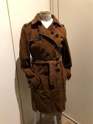Marc O'Polo Abrigo de cuero marrón