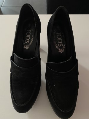Tod's Platform Pumps black suede