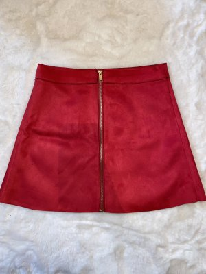 Only Leather Skirt magenta-pink