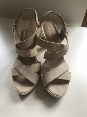 Mark Adam Plateauzool sandalen licht beige-room