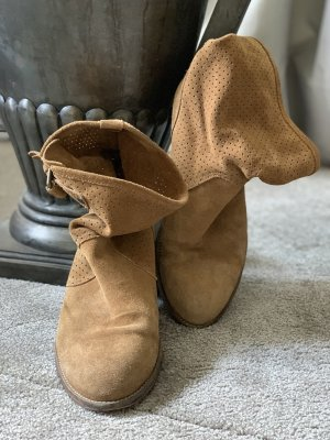 Wildleder Slouchy Cowboy Ankle Boots