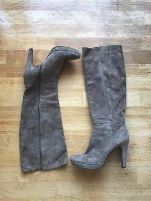 -Stiefel in taupe, Größe 40