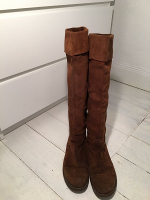 Botas con cordones marrón