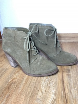 Jessica Simpson Lace-up Booties olive green