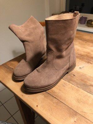 Stiefeletten beige Damen Stiefel Schuhe Leder Samsoe Samsoe