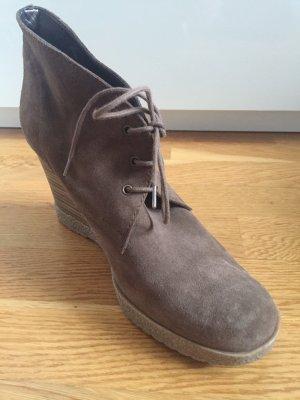 Cosima Wedge Booties grey brown