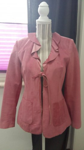 Apart Impressions Leather Jacket pink-mauve suede
