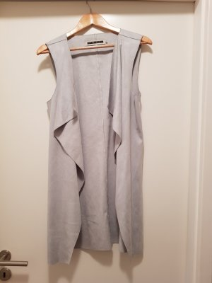 Noisy May Leather Vest silver-colored-light grey
