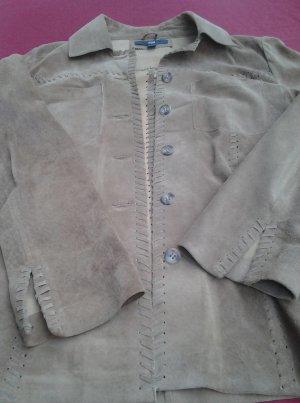 Tchibo / TCM Leren shirt lichtbruin