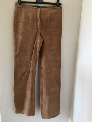 TCM Leather Trousers camel-beige