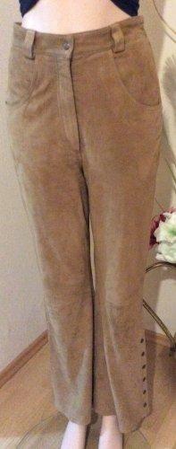 Vera Pelle Pantalone in pelle sabbia Pelle