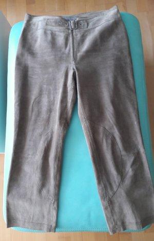 Part two Pantalon en cuir gris brun
