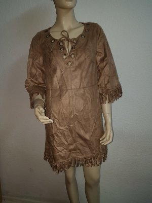 Leather Dress light brown