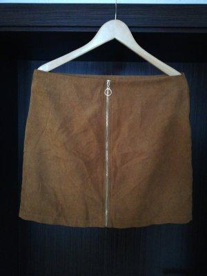 Janina Leather Skirt light brown-brown