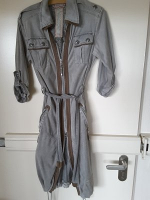 Sportalm Shirtwaist dress silver-colored-brown polyester