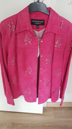 Centigrade Leather Jacket pink