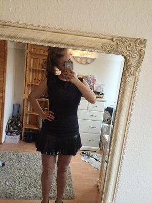 Fringed Dress black leather