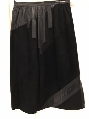 Werner Graumann Leather Skirt black
