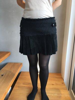 Jupe en cuir noir