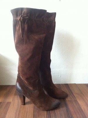 Slouch Boots brown red-brown
