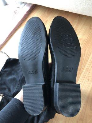 Kniehoge laarzen zwart-goud