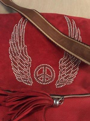 Wildledertasche mit strass
