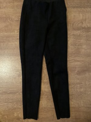 Zara Pantalon en cuir noir