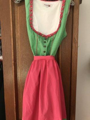 Der Wildschütz Midi Dress pink-green