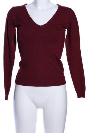 William de Faye V-Ausschnitt-Pullover rot Casual-Look