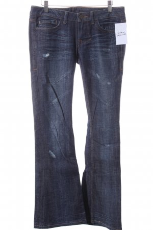 William Rast Boot Cut Jeans blau Street-Fashion-Look