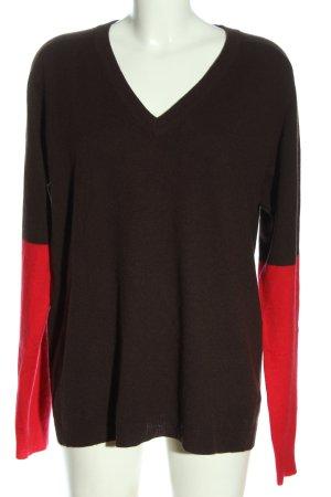 William Rast Kaszmirowy sweter brązowy-czerwony W stylu casual