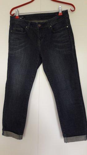 William Rast Jeans skinny cropped mit Umschlag dunkelblau Gr. 27 (34/36)