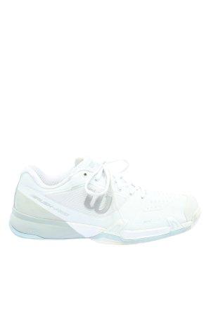 Wilson Basket à lacet blanc-gris clair style décontracté