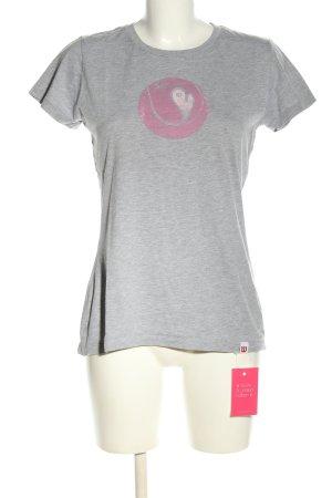 Wilson T-Shirt hellgrau-pink Motivdruck Casual-Look