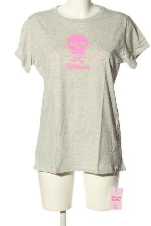 Wilson T-Shirt hellgrau-pink meliert Casual-Look