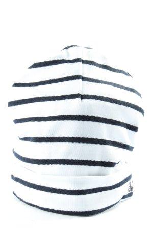 Wind Beanie wit-zwart gestreept patroon casual uitstraling