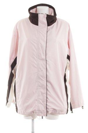 Wind Outdoorjacke pink Streifenmuster Casual-Look
