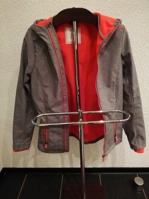 Takko Impermeabile grigio-rosso mattone Poliestere