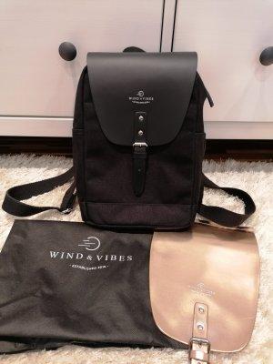 Wind & Vibes Mochila para portátiles negro-color rosa dorado
