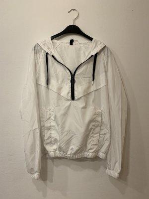 H&M Divided Windbreaker white-black