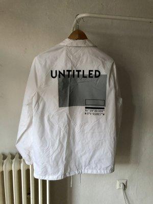 Urban Outfitters Giacca a vento grigio chiaro-bianco Poliestere